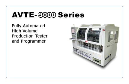 AVTE-3000: Fully-Automated High Volume Production Tester and Programmer