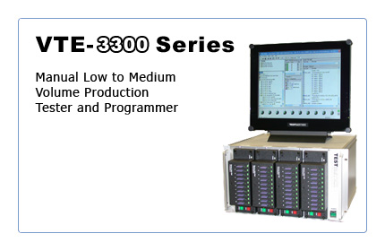 VTE-3300: Manual Low to Medium Volume Production Tester and Programmer